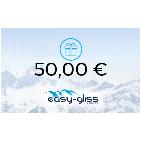 CARTE CADEAU EASY-GLISS 50€