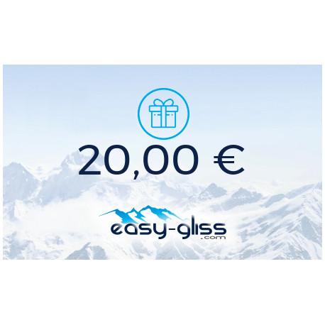 CARTE CADEAU EASY-GLISS 20€