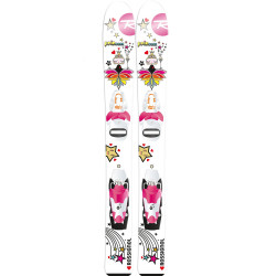 SKI PRINCESS + FIXATIONS ROSSIGNOL COMP KID PRINCESS 25 B75 W/PINK