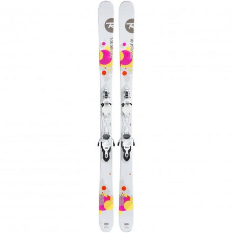 SKI TRIXIE + FIXATIONS LOOK XPRESS W 10 B83 WHITE NEUTRAL