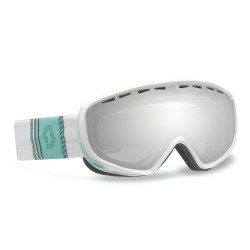 MASQUE DE SKI DANA SILVER CHROME RIBBON WHITE