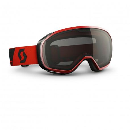 MASQUE DE SKI FIX BLACK CHROME NEON RED