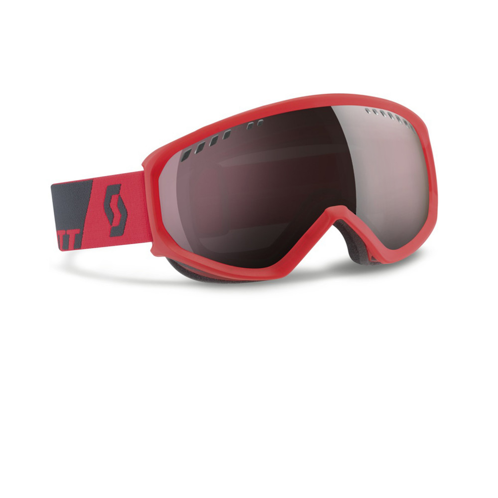 MASQUE DE SKI FAZE NEON RED SILVER CHROME