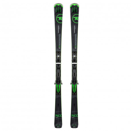 SKI PURSUIT 600 BASALT + FIXATIONS LOOK NX12 FLUID B80 BLACK/GREEN