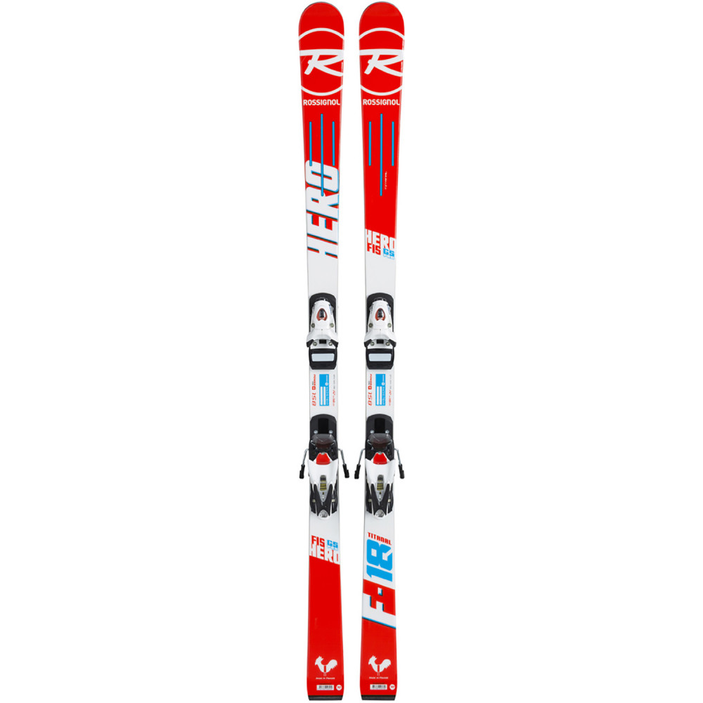 SKI HERO FIS GS PRO + FIXATIONS LOOK NX 7 JR B73 WHITE