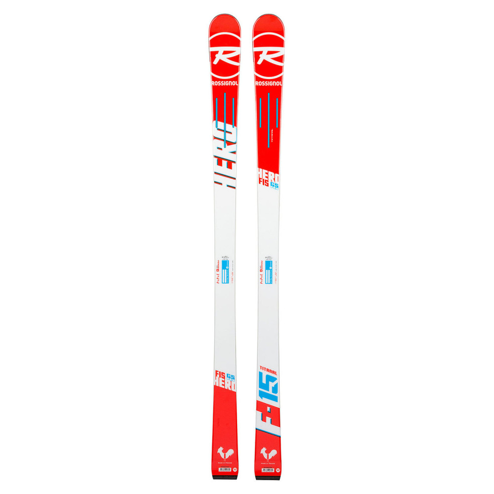SKI HERO FIS GS OPEN + FIXATIONS NX JR 7 LIFTER B73 WHITE ICON