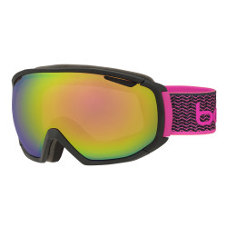 MASQUE DE SKI TSAR MATTE BLACK & NEON PINK ROSE GOLD