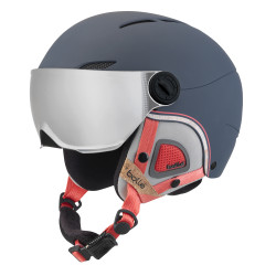 CASQUE DE SKI JULIET VISOR NAVY & ROSE WITH 1 SILVER GUN + 1 LEMON VISOR