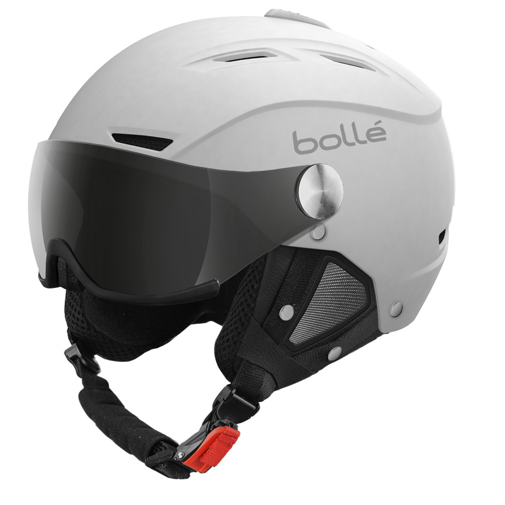 CASQUE DE SKI BACKLINE VISOR SOFT WHITE WITH 1 SILVER GUN VISOR + 1 LEMON VISOR
