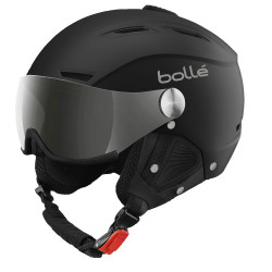 CASQUE DE SKI BACKLINE VISOR SOFT BLACK & SILVER WITH 1 SILVER GUN VISOR + 1 LEMON VISOR
