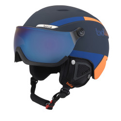 CASQUE DE SKI B-YOND VISOR NAVY & ORANGE WITH AMBER BLUE VISOR CAT 2