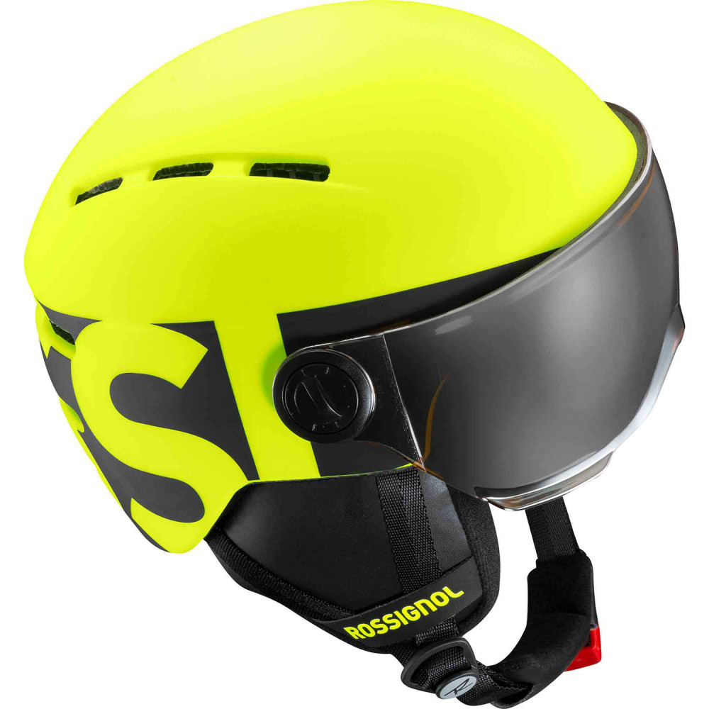 CASQUE DE SKI VISOR JR NEON YELLOW/BLACK