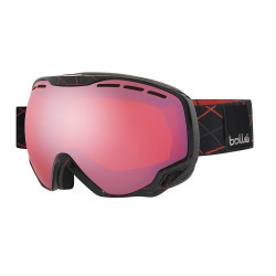 MASQUE DE SKI EMPEROR SHINY BLACK RED LOOPS
