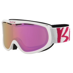 MASQUE DE SKI SIERRA WHITE AND PINK ROSE GOLD
