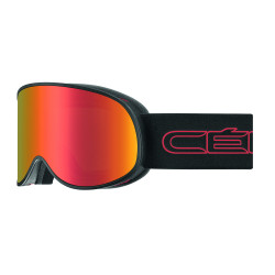 MASQUE DE SKI ATTRACTION MATT BLACK RED 2 ECRANS