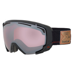 MASQUE DE SKI SUPREME OTG SHINY BLACK & RED VERMILLON GUN