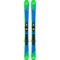 SKI EXPERIENCE PRO + FIXATIONS KID X 4 B76 BLACK GREEN