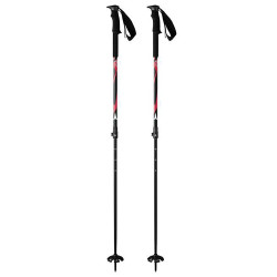 BATONS DE SKI BCT BLACK/RED