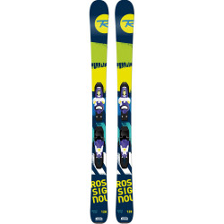 SKI TERRAIN BOY + FIXATIONS XPRESS JR 7 B83 BLUE YELLOW