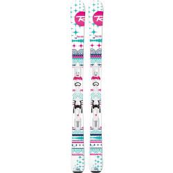 SKI TERRAIN GIRL + FIXATIONS XPRESS JR 7 B83 WHITE SILVER