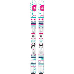 SKI TERRAIN GIRL + FIXATIONS XPRESS JR 7 B83 WHITE SILVER