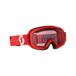MASQUE DE SKI JR WITTY RED AMPLIFIER SILVER CHROME