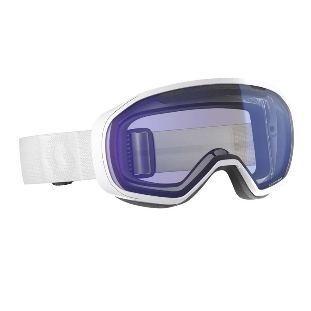 MASQUE DE SKI FIX WHITE ILLUMINATOR BLUE CHROME