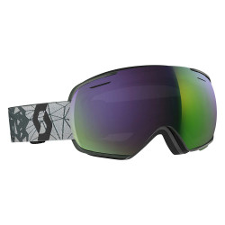 MASQUE DE SKI LINX GREY BLACK AMPLIFIER GREEN CHROME