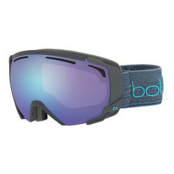 MASQUE DE SKI SUPREME OTG MATTE DARK GREY & BLUE AURORA