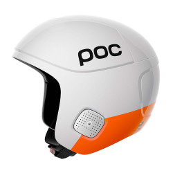 CASQUE DE SKI SKULL ORBIC COMP SPIN HYDROGEN WHITE ZINC ORANGE