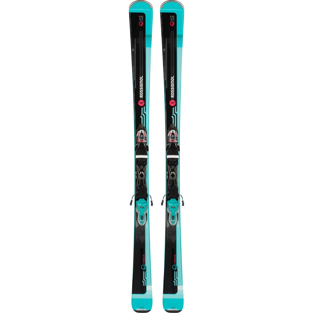 SKI FAMOUS 2 + FIXATIONS XPRESS W 10 B83 BLACK/BLUE