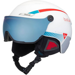 CASQUE DE SKI B-YOND VISOR WHITE WITH AMBER BLUE VISOR CAT.2