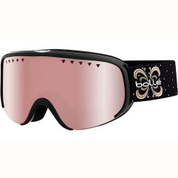 MASQUE DE SKI SCARLETT SHINY BLACK NIGHT VERMILLON GUN