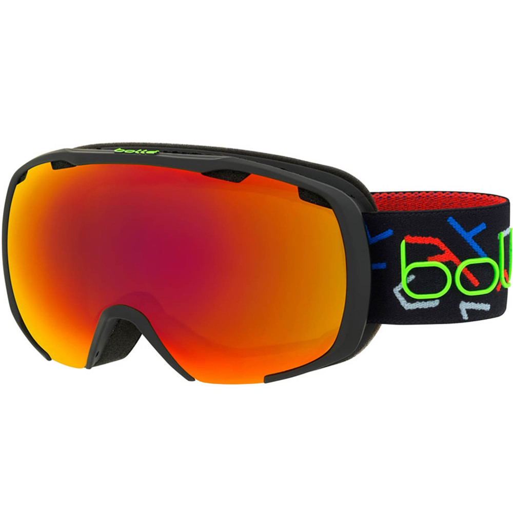 MASQUE DE SKI ROYAL MATTE BLACK & GREEN SUNRISE