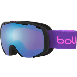 MASQUE DE SKI ROYAL MATTE BLACK & PURPLE SPRAY AURORA