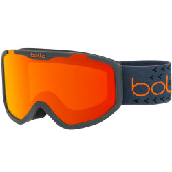 MASQUE DE SKI ROCKET PLUS MATTE DARK GREY & ORANGE SUNRISE