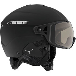 CASQUE DE SKI ELEMENT VISOR MATT BLACK SILVER