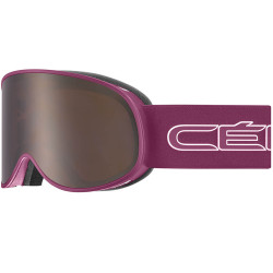 MASQUE DE SKI ATTRACTION MATT CRANBERRY WHITE (2 ECRANS)