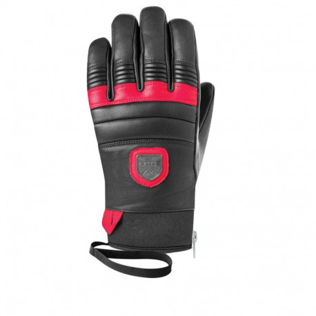 GLOVES LEATHER BLACK/RED