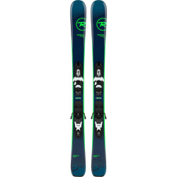 SKI EXPERIENCE PRO + FIXATIONS KID-X 4 B76 BLACK/WHITE