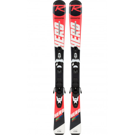 SKI HERO JUNIOR + FIXATIONS KID-X 4 B76 BLACK/WHITE