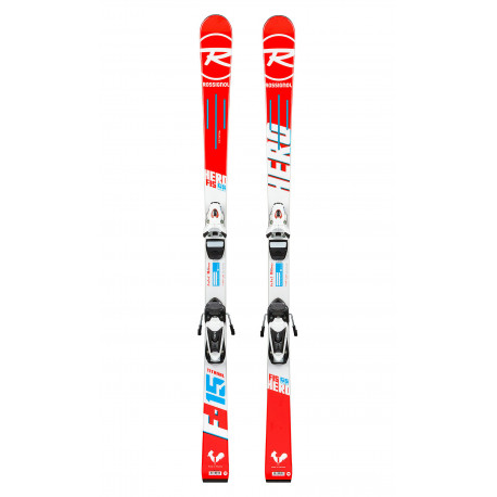SKI HERO FIS GS OPEN + FIXATIONS NX JR 7 RTL B83 BLACK/WHITE