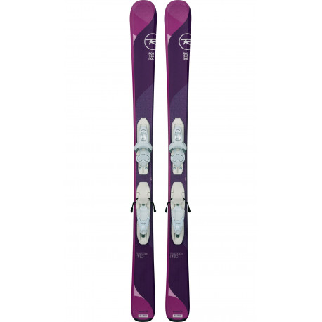 SKI TEMPTATION PRO + FIXATIONS KID X 4 B76 WHITE SILVER