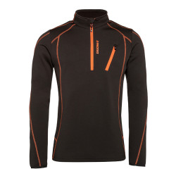 PULL HUMANY 1/4 ZIP TOP SWAMPED