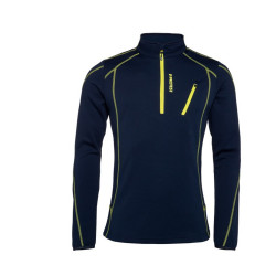 PULL HUMANY 1/4 ZIP TOP GROUND BLUE
