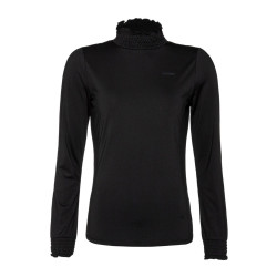 PULL ZOOM POWERSTRETCH TOP TRUE BLACK