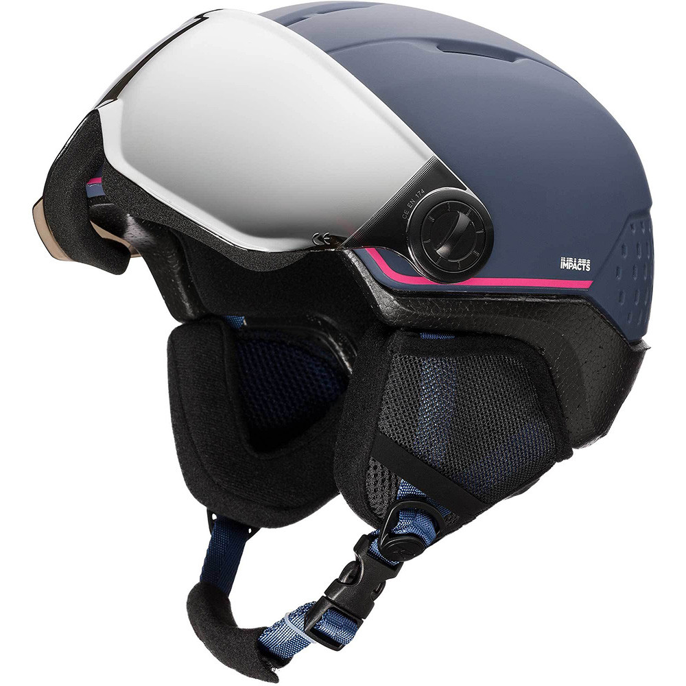 CASQUE DE SKI WHOOPEE VISOR IMPACTS BLUE/PINK