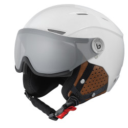 CASQUE DE SKI BACKLINE VISOR PREMIUM SHINY GALAXY WHITE & COGNAC W PHOTOCHROMIC