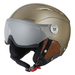 CASQUE DE SKI BACKLINE VISOR PREMIUM GOLD & COGNAC W PHOTOCHROMIC SILVER
