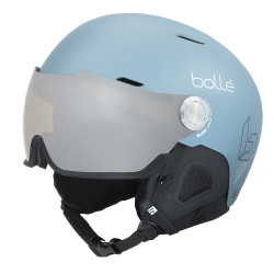 CASQUE DE SKI MIGHT VISOR MATTE STORM BLUE W BROWN SILVER LENS CAT.2